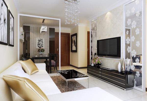 该户型为日盈里2室2厅1卫1厨户型。设计的是一套现代简约风格的作品。