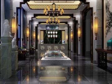 高级商务会所---新古典中式风格