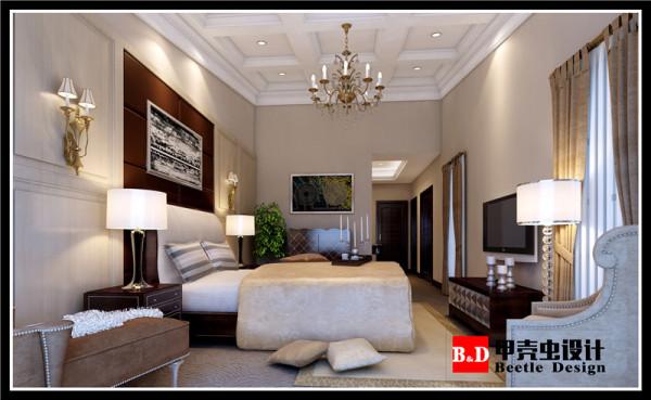 英式简欧风设计,卧室效果图