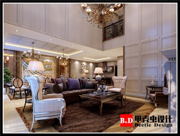 英式简欧风设计,客厅效果图