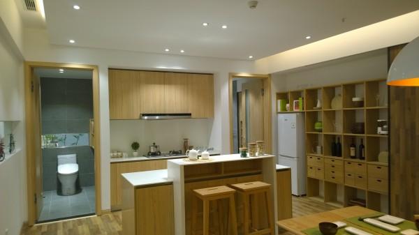 现代风格的厨房通常为开放式厨房,与餐厅连成一体。橱柜常用喷漆工艺,或者原木清漆。