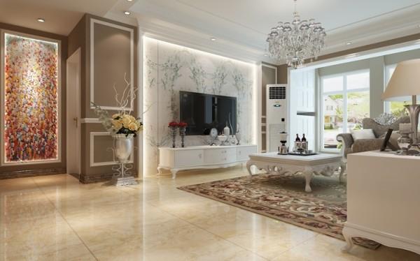 客厅以欧式风格为主,以象牙白为主色调,以浅色为主深色为辅。相对比拥有浓厚欧洲风味的欧式装修风格,简欧更为清新、也更符合中国人内敛的审美观念。