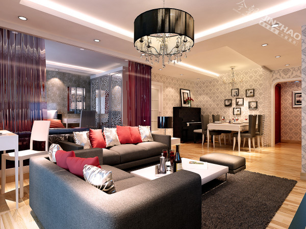 改造亮点: 客厅与卧室的大胆设计,错层的新颖设计,使整个空间感通透宽敞!电视背景墙的材质选择更是别具一格!