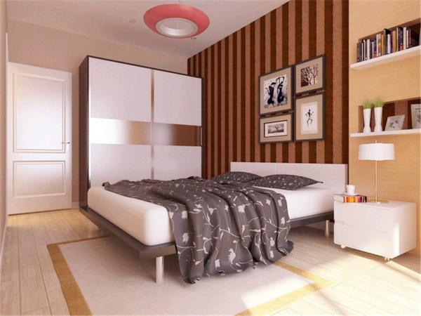 主体色调为白色,干净明亮。客厅的亮点在于电视背景墙,采用壁纸和茶镜相结合,线条明朗,彰显大气,提高了空间的档次。