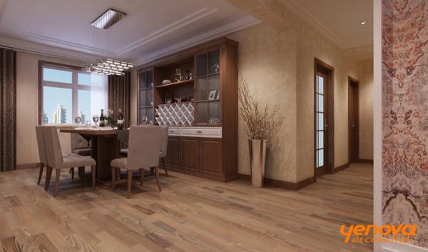 室内装饰上,设计师选择了以适合现代人生活的简洁手法,适当用中式点缀,其实这并不仅仅在演绎现代中式设计理念,更重要的是有意识的在家居空间里留出一定的空白——留给居住主人自主地填补生活的空间