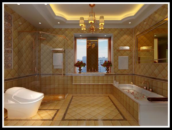 设计理念:以流金岁月为主进行构思的空间  亮点:抛弃了卫生间普通用的铝扣吊顶选用防水石膏板制作和贵妃式的浴缸