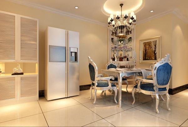客厅的设计电视背景墙采用欧式对称造型石膏板加壁纸搭配简单大方更有质感,简单大方。蓝色沉稳的底蕴与白色的简约做搭配,让宁静的夏天增添了一丝凉意。