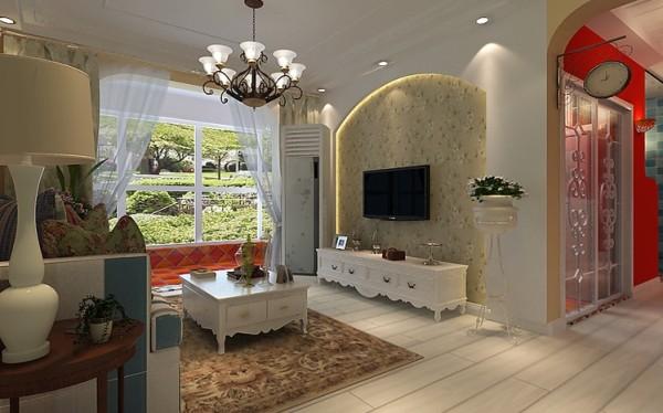 拱形的石膏板配以小碎花壁纸,从质感和色感上让平淡的墙面富有层次和韵味,灯带的反射营造出丰富的层次感,整体质感温馨,时尚。