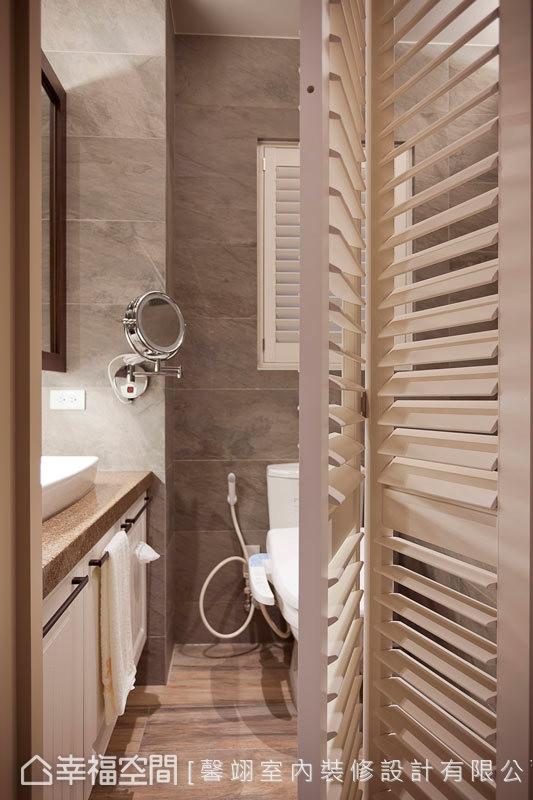 漂流木纹的木纹砖,让整体空间围塑休闲温暖的质感。