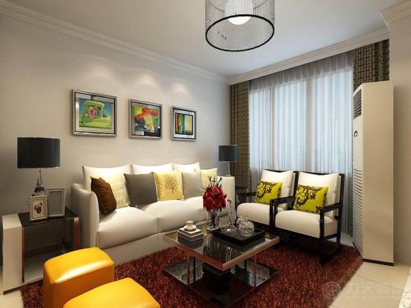 本户型为橡树湾两室两厅一厨一卫75平米的户型,设计风格为现代简约。