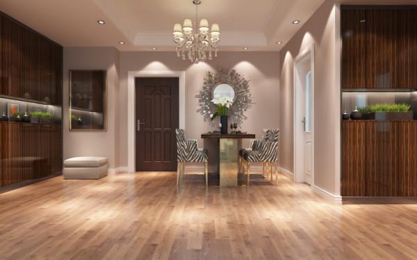 整个空间完全显示出家具与空间的协调。墙壁上配有造型独特独特的展示、储藏空间。塑造了一种轻松愉快的就餐环境。
