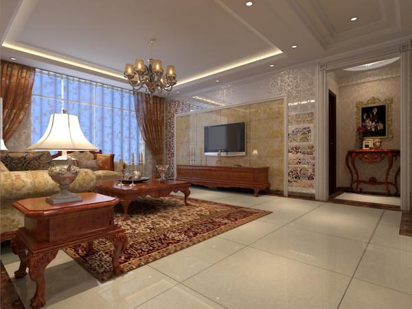 该户型是首创城三室两厅两卫,设计的是一套美风格的作品。