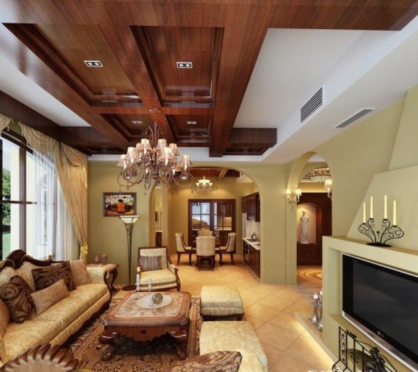 客厅:唯美的美式新古典,让整体客厅的装修设计更明亮温馨大方