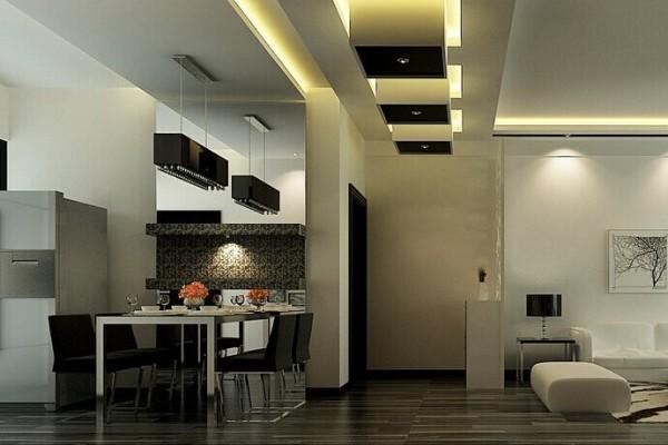 本案除了黑白分明的线条,没有多余的装饰物。家具简单摆设,功能齐全就可,地面和背景墙无需繁华装饰,给我们的感觉就是纯粹。