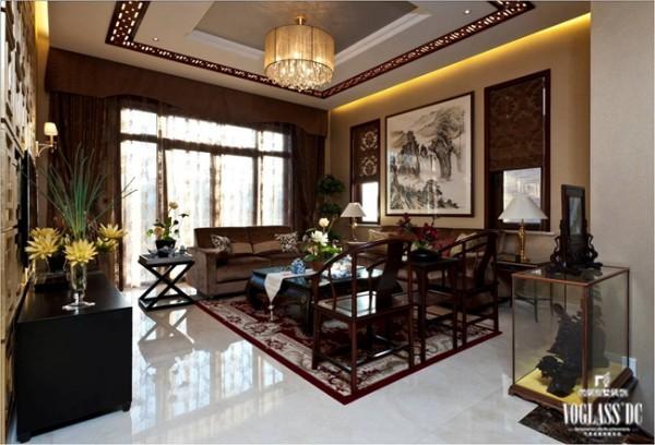 从这个别墅装修方案中可以看出更加充满了中式的味道。中式木制的椅子与桌子以及软装配饰更能够博得人的喜爱。