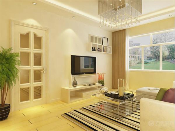 该户户型是幸福时光小区一室一厅一厨一卫70平米户型,该户户型的设计定位为现代简约风格