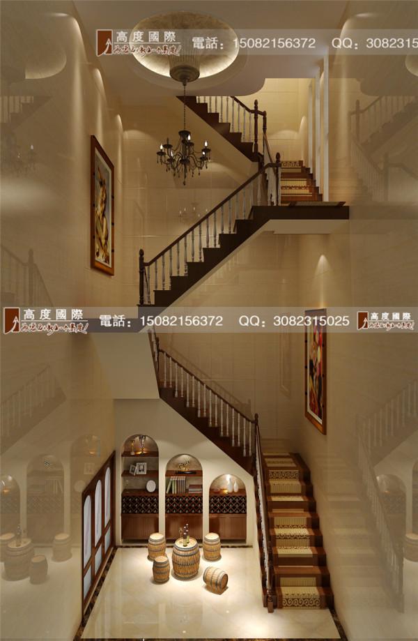 佳乐国际楼梯细节效果图-成都高度国际装饰