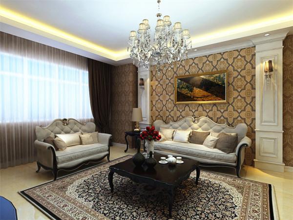 茶几下面选择了与地面色彩不太大的地毯,主要起到了提升地面舒适性的作用。