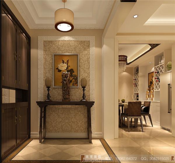 汇锦城门厅细节效果图-成都高度国际装饰