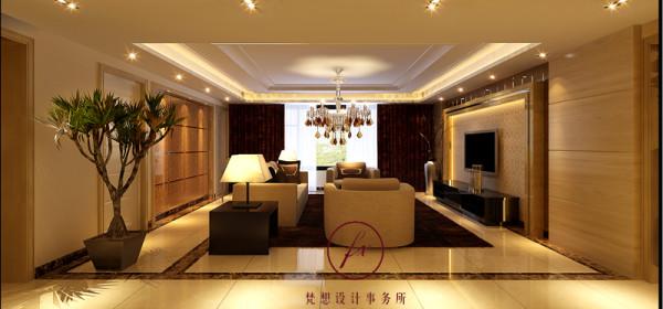 客厅电视背景墙和沙发背景墙,分别设计了造型,相呼应