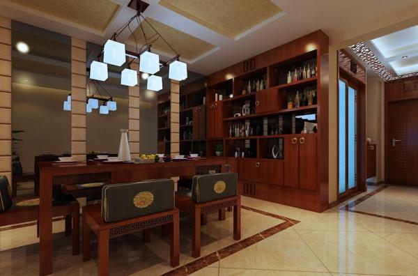 酒柜的设计为空间添加了灵动性!也给主人生活带来了情趣。浮华的世界,忙碌的工作,在闲暇时三两朋友一起尽情放松。这时我们品的不是酒,品味的是人生百态!