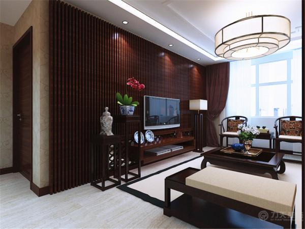 影视墙 更是将中式的特点突出的淋漓尽致,电视柜的边上放置了小绿植,减少辐 射的同时美化了室内。