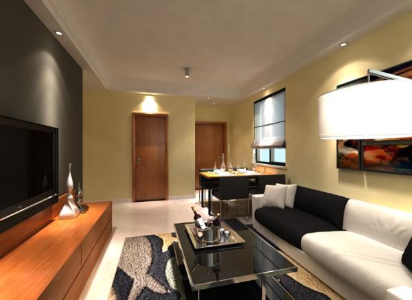 设计理念:钢化玻璃餐桌,现代台灯,黑白搭配的沙发,极好的诠释了现代简约的设计理念 亮点:沙发背景特意挑选色彩靓丽的挂画,起到画龙点睛的作用,增加预约的气氛。