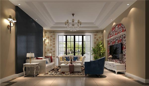 仁和春天客厅细节效果图-成都高度国际装饰