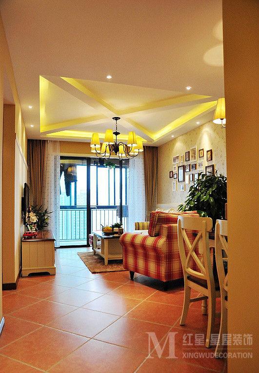 龙城一号田园风格设计客厅