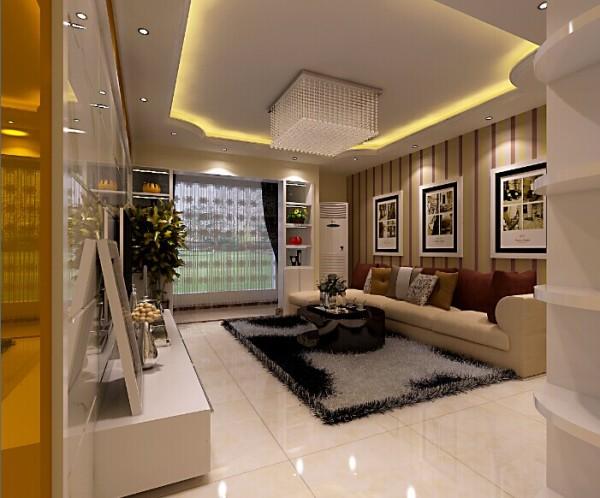 厚重的大理石作为电视背景墙,让客厅时尚大气。