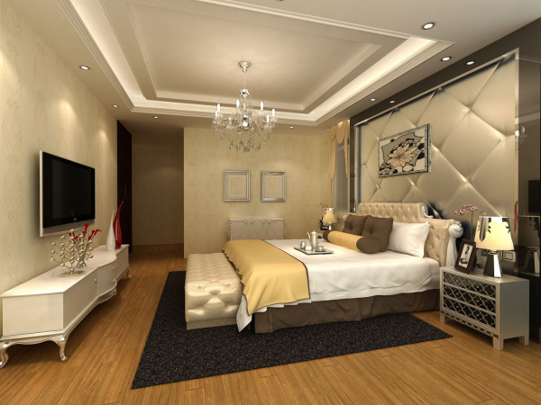 主张在有限的空间发挥最大的使用效能。家具选择上强调让形式服从功能,一切从实用角度出发,废弃多余的附加装饰,点到为止。主卧的背景墙采用软装方式,给主人一种温暖的感觉。