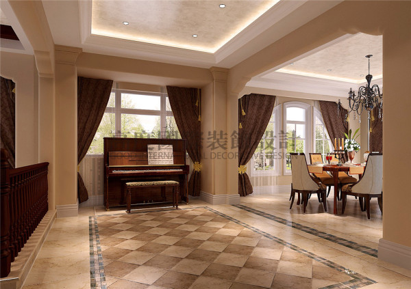 一层楼梯口 托斯卡纳风格 混搭风格 收房装修 成都高度国际 别墅装修