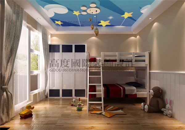 儿童房 托斯卡纳风格 混搭风格 收房装修 成都高度国际 别墅装修