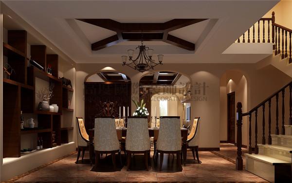 餐厅 托斯卡纳风格 混搭风格 收房装修 成都高度国际 别墅装修
