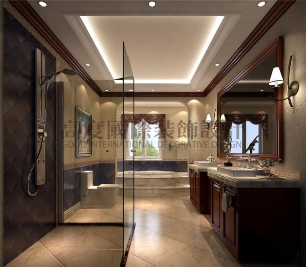 卫生间 托斯卡纳风格 混搭风格 收房装修 成都高度国际 别墅装修