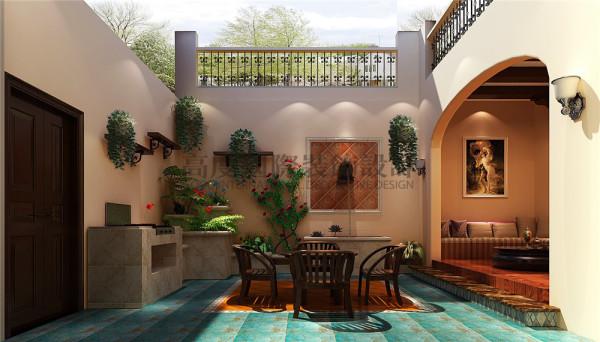 花园 托斯卡纳风格 混搭风格 收房装修 成都高度国际 别墅装修
