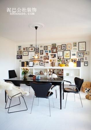 线条感极佳的座椅,配上花式照片墙,是不是很文艺呢