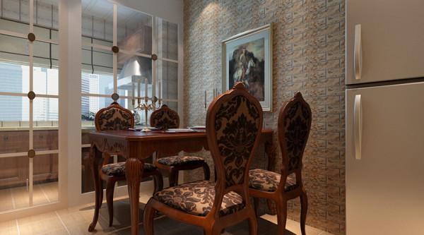 沙发背景的实木雕刻做法,加入了生活气息,并实现了隐形门的效果,改善了原来房型沙发墙过短的缺点;厨房的设计中,采用中西厨分离的做法,保证了功能使用,增加了餐厅与厨房的互动。