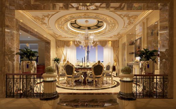餐厅利用抬高式设计区分空间,划分功能区。开放式厨房与餐厅连贯处理,利用厨具延伸出极富趣味且实用的弹空间,结合隐形酒柜设计不但放大餐厅空间,更加强了厨房与餐厅、餐厅与客厅的互动感!