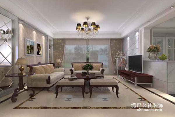 客厅里,都是红木沙发,很有质感