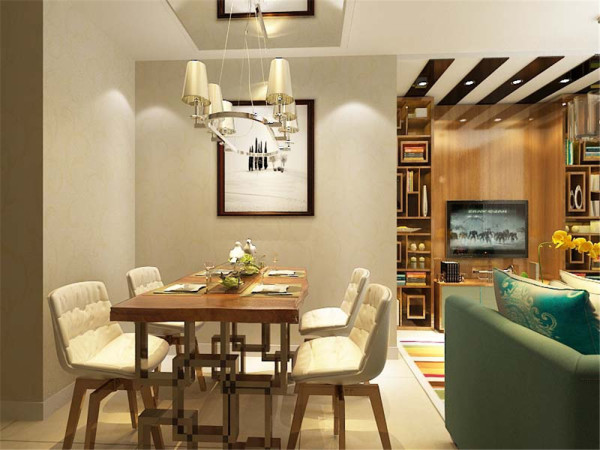 本案围绕现代风格为主题,现代简约风格的设计定位:家是心灵的港湾,现代简约风格以纯美的色彩组合赢得人们对它的喜爱。本案中客餐厅空间铺贴淡暖色花纹壁纸,营造一个温馨的第一印象。