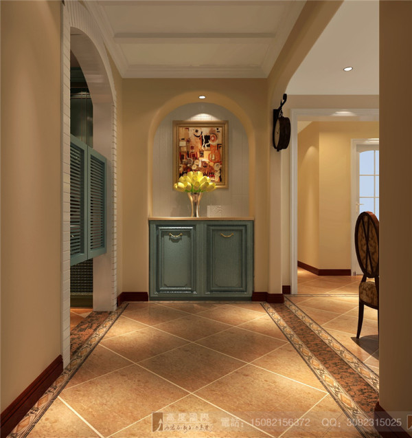仁和春天门厅细节效果图-成都高度国际装饰