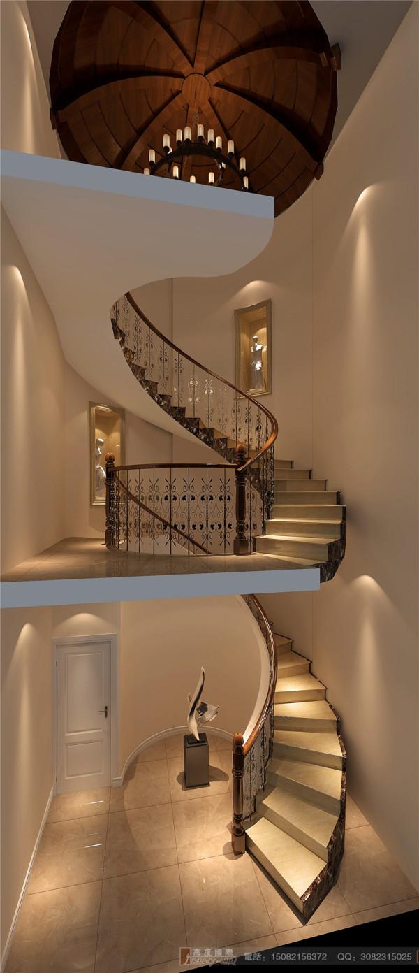 蔚蓝卡地亚楼梯细节效果图-成都高度国际装饰