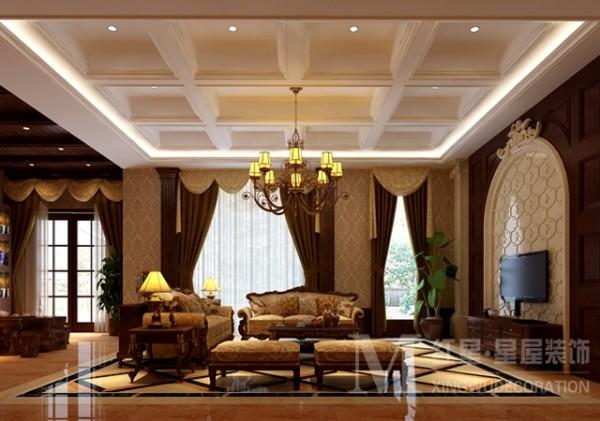 蓝光观岭欧式新古典设计客厅