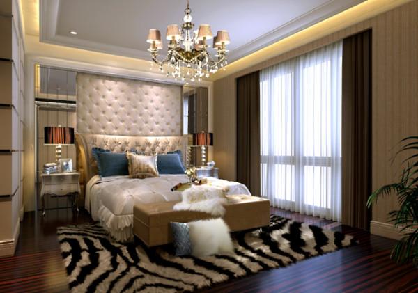 德馨苑混搭风格装修设计卧室