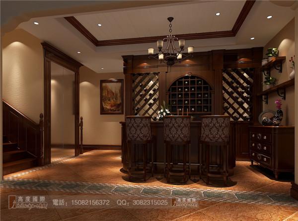 万科五龙山酒吧区细节效果图-成都高度国际装饰