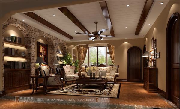 万科五龙山一层会客厅细节效果图-成都高度国际装饰