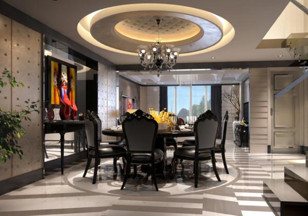 德馨苑混搭风格装修设计餐厅