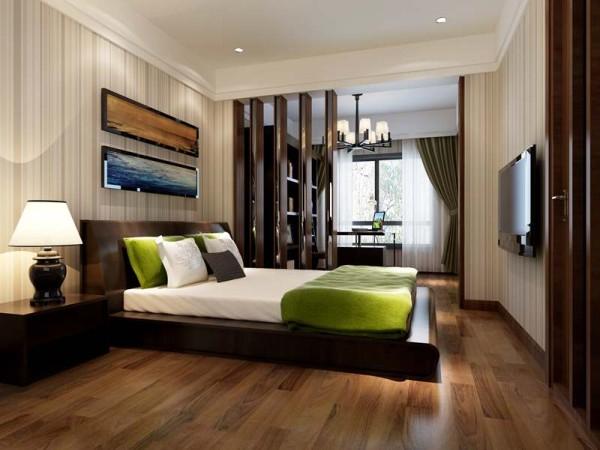 东山国际社区新中式风格设计卧室