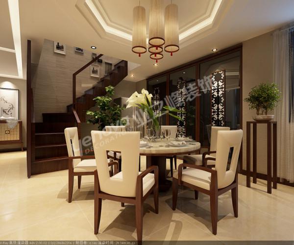 楼梯处的餐厅一角